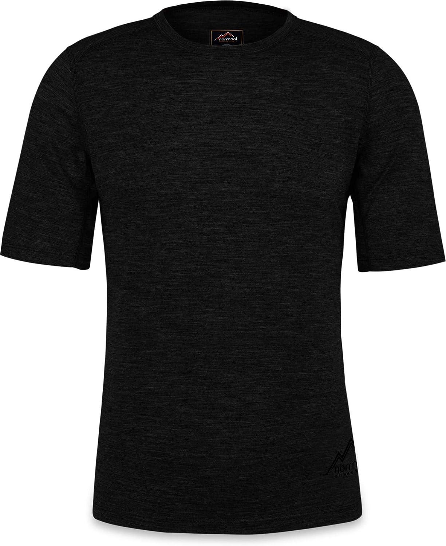 normani Herren Merino T-Shirt Short Sleeve Kurzarm Oberteil Funktionsoberteil 100/% Merinowolle Thermounterw/äsche Baselayer
