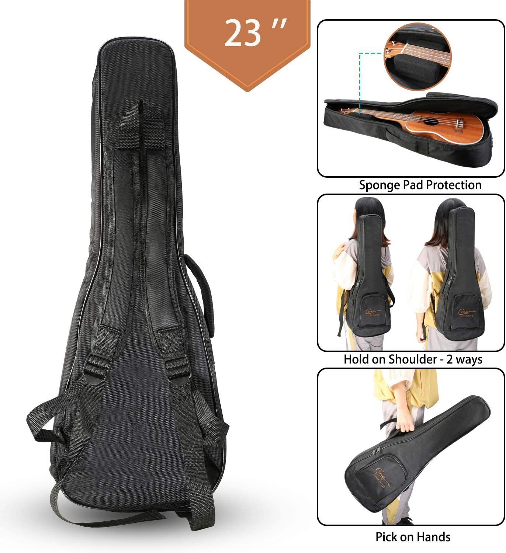 Hricane UKM-1 Concert 23inch Professional Mahogany Ukulele Starter Small Guitar Pack with Gig Bag