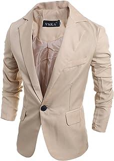 Jueshanzj Mens Blazers Slim Fit One Button Sport Coats