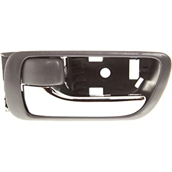 Amazon Com Interior Door Handle Compatible With Toyota Camry 02 06 Front Or Rear Lh Inside Textured Gray W Chrome Lever Japan Usa Built Automotive