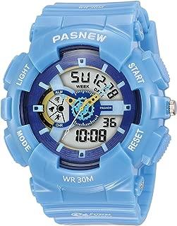 Kid's Quartz Digital Analog Dual Time Waterproof Outdoor Sport Watch for Teenage Boys and Girls Alarm Stopwatch