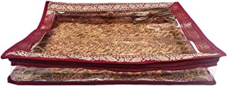 5 Pack/Sari-Saree/Lehenga Cover-Bags-Packaging-Storage ONE Side Cloth Clear (2 in Height)