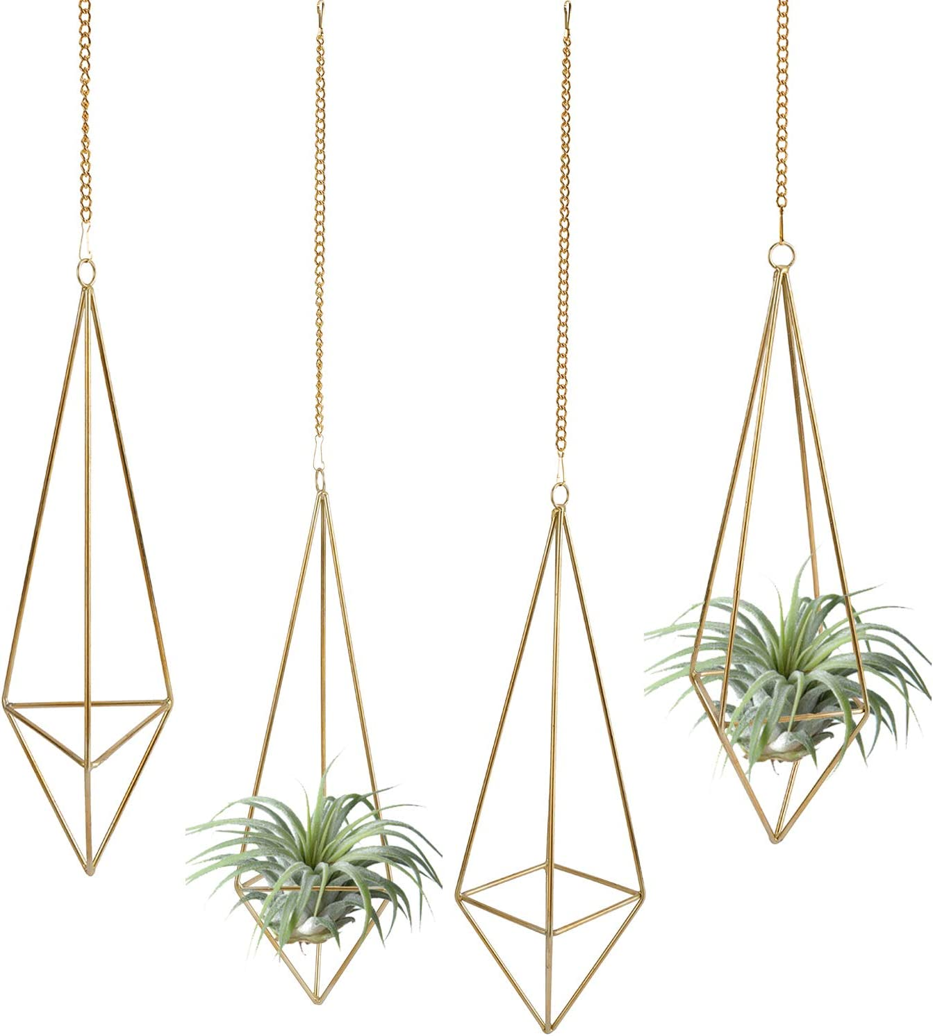 HighFree 4 Pack Omaha Mall Ranking TOP19 Hanging Air Plant Plants Metal Holder w Rack