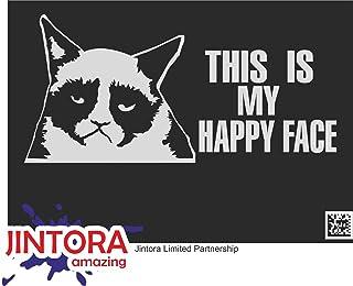 JINTORA Aufkleber für Auto/Autoaufkleber   JDM   Die Cut   Grumpy Cat   207x99 mm   JDM/Die Cut   Bus   Fenster   Heckscheibe   Laptop   LKW   Tuning   Silber