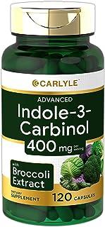 Carlyle Indole-3-Carbinol (I3C) 200mg 120 Capsules Advanced Formula with Broccoli Extract | Non-GMO, Gluten Free |