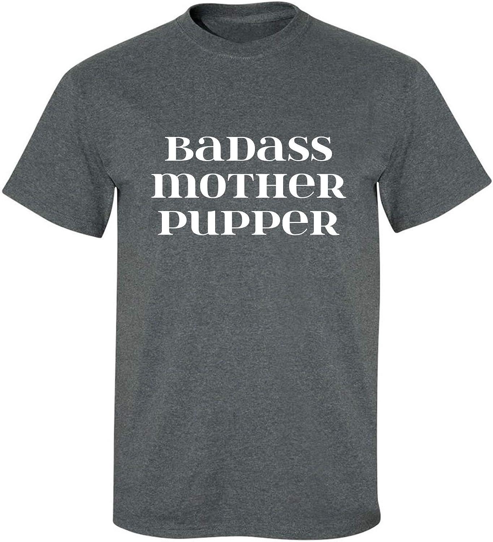 Badass Mother Pupper Adult T-Shirt in Dark Heather - XXXXX-Large