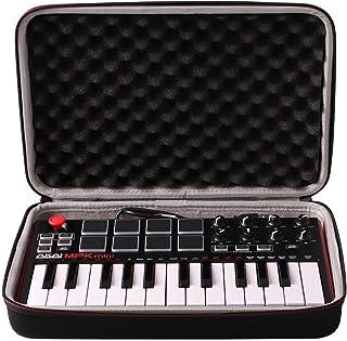 LTGEM EVA Duro Estuche Viajes Funda Bolso para AKAI Professional MPK MINI MKII - Teclado Controlador MIDI USB portátil con 25 teclas