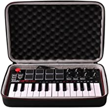LTGEM Travel Hard Carrying Case for Akai Professional MPK Mini MKII & MPK Mini Play | 25-Key Ultra-Portable USB MIDI Drum Pad & Keyboard Controller
