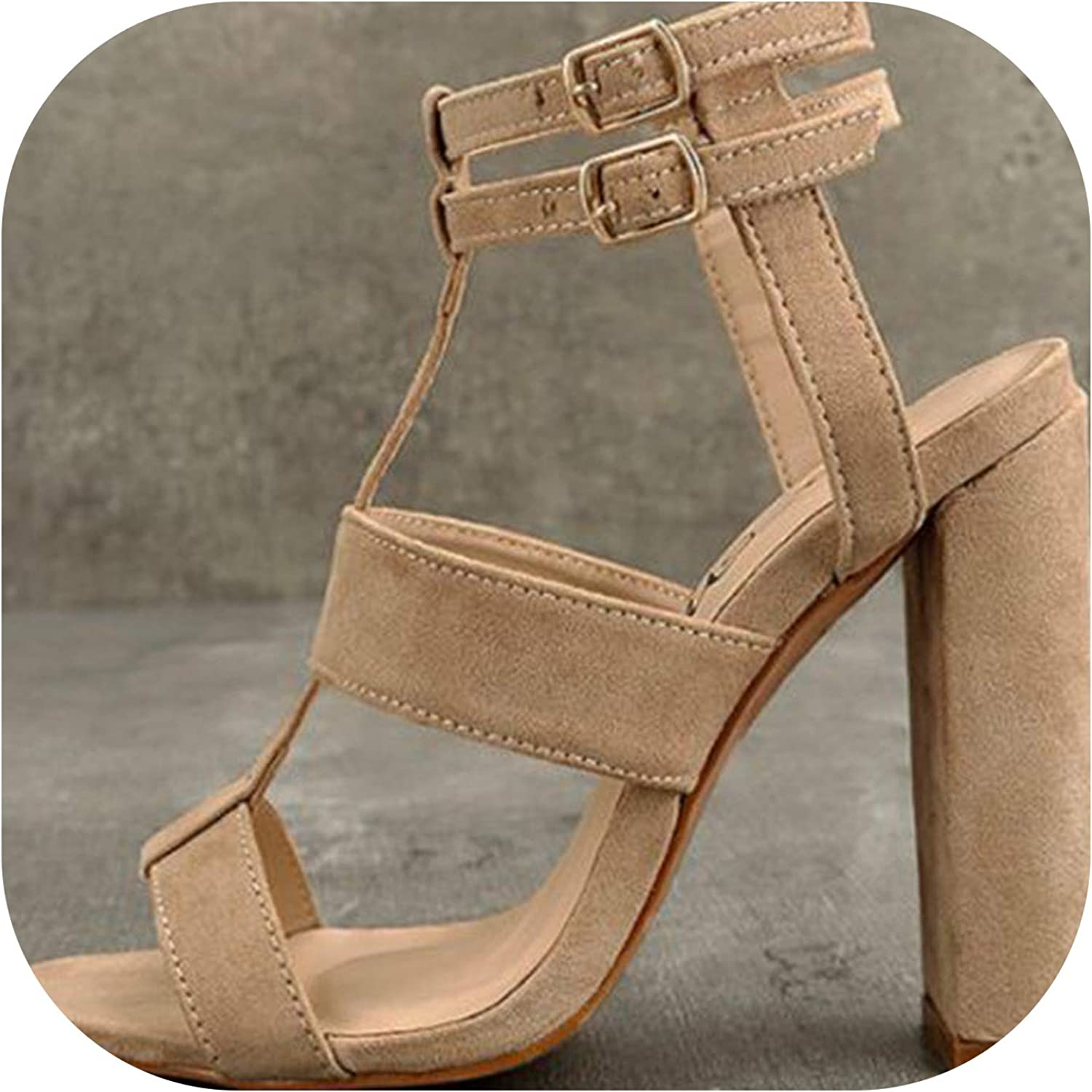 Women's High Heel Sandals Women Summer shoes Buckle with Fashion Sandalias Party shoes
