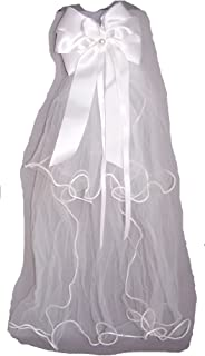 Handmade White Communion Veils With Floral Crown Veil104 Z