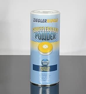 Zieglerworld 1 can Yellow Sand Table Shuffleboard Powder Wax - Medium Speed