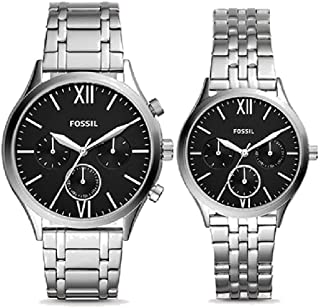 His and Her Stainless Steel Watch Gift Set BQ2469SET