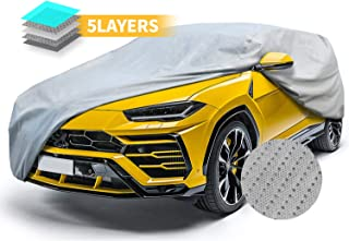 "SUV Car Covers for Automobiles All Weather Breathable Waterproof Universal Fit Full Exterior Covers 2 Size FITS UP TO 240""..."