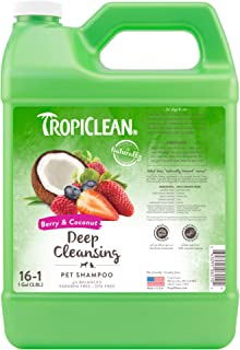 Tropiclean Berry & Coconut Deep Cleaning Pet Shampoo, 1 Gallon