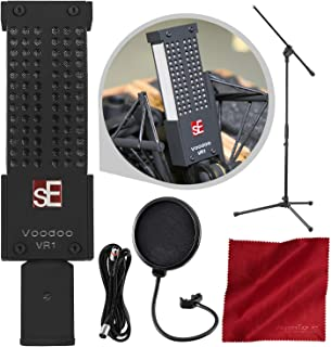 sE Electronics Voodoo VR1 میکروفن روبان منفعل با پایه میک بوم و بسته نرم افزاری لوکس