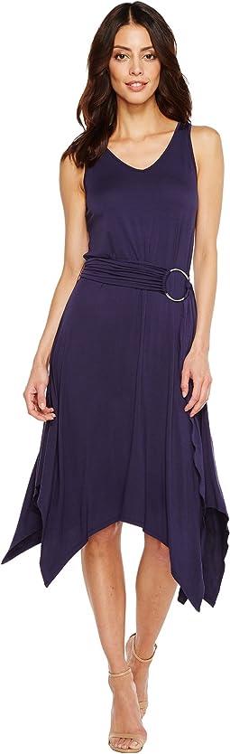 Knit Tank Top Hank Hem Dress