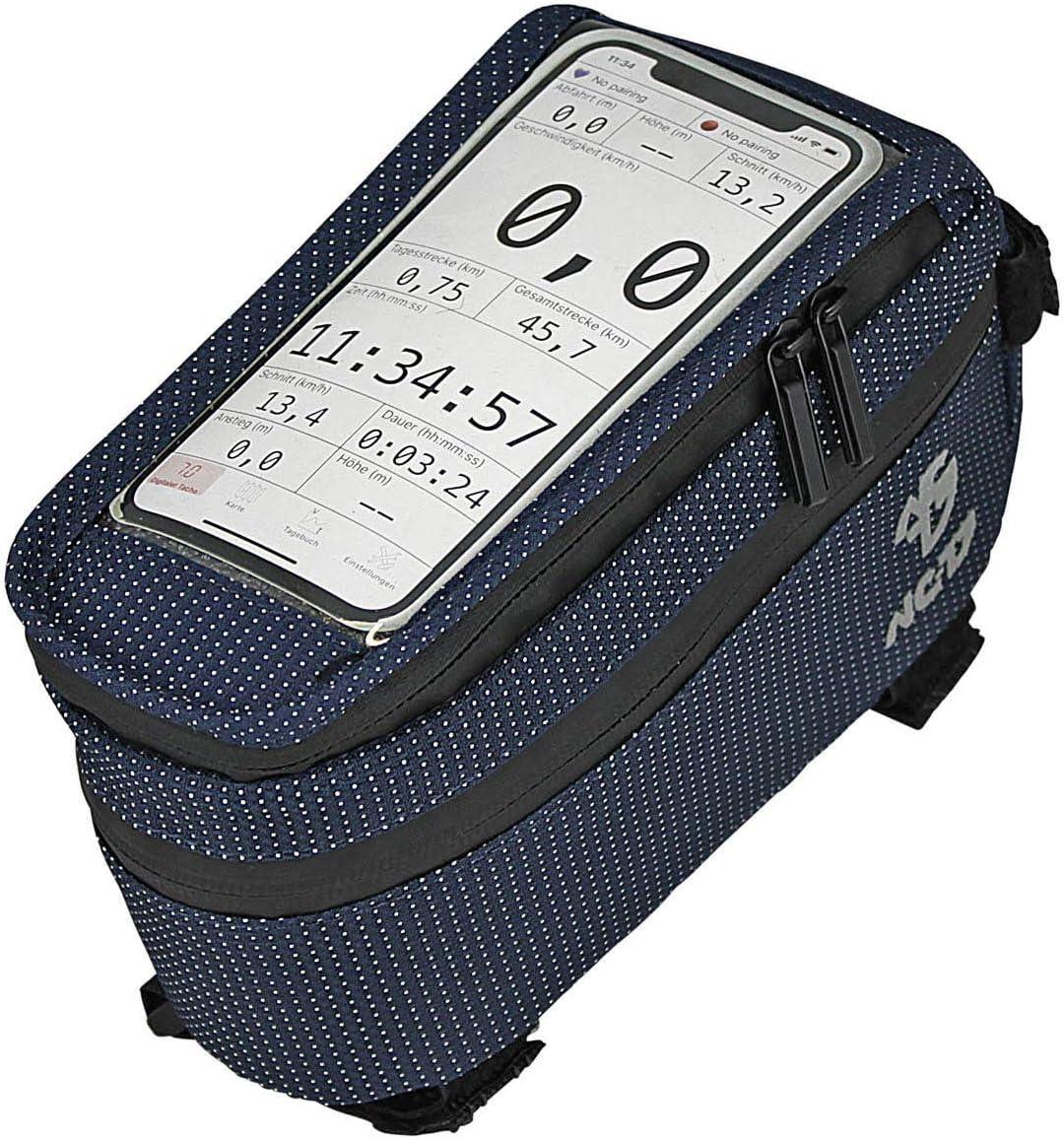 Nc 17 Connect Universal Xl Oberrohrtasche Dot Fahrrad Smartphonetasche Mit Klettverschluss Staufach Und Kabeldurchlass Für Smartphones Aller Gängigen Größen Bekleidung