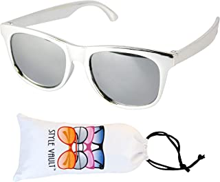 KD3135 Baby infant Toddlers Kids Age 0-36 months 80s Chrome finished Party Sunglasses
