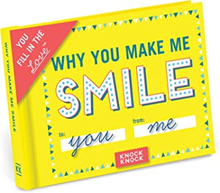 Knock Knock Why You Make Me Smile Fill in the Love Book Fill-in-the-Blank Gift Journal, 4.5 x 3.25-inches