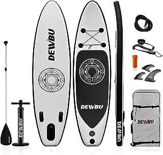 DEWBU サーフボード スタンドアップパドルボード 空気式 SUP 持ち運び便利 インフレータ サーフィン ヨガ 釣り 海