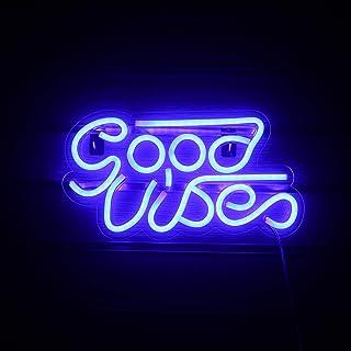 Blau Gute Stimmung Leuchtreklame Led Neon Wandschilder USB Leuchtreklame Lichter Dekor für Schlafzimmer Kinderzimmer Bar W...
