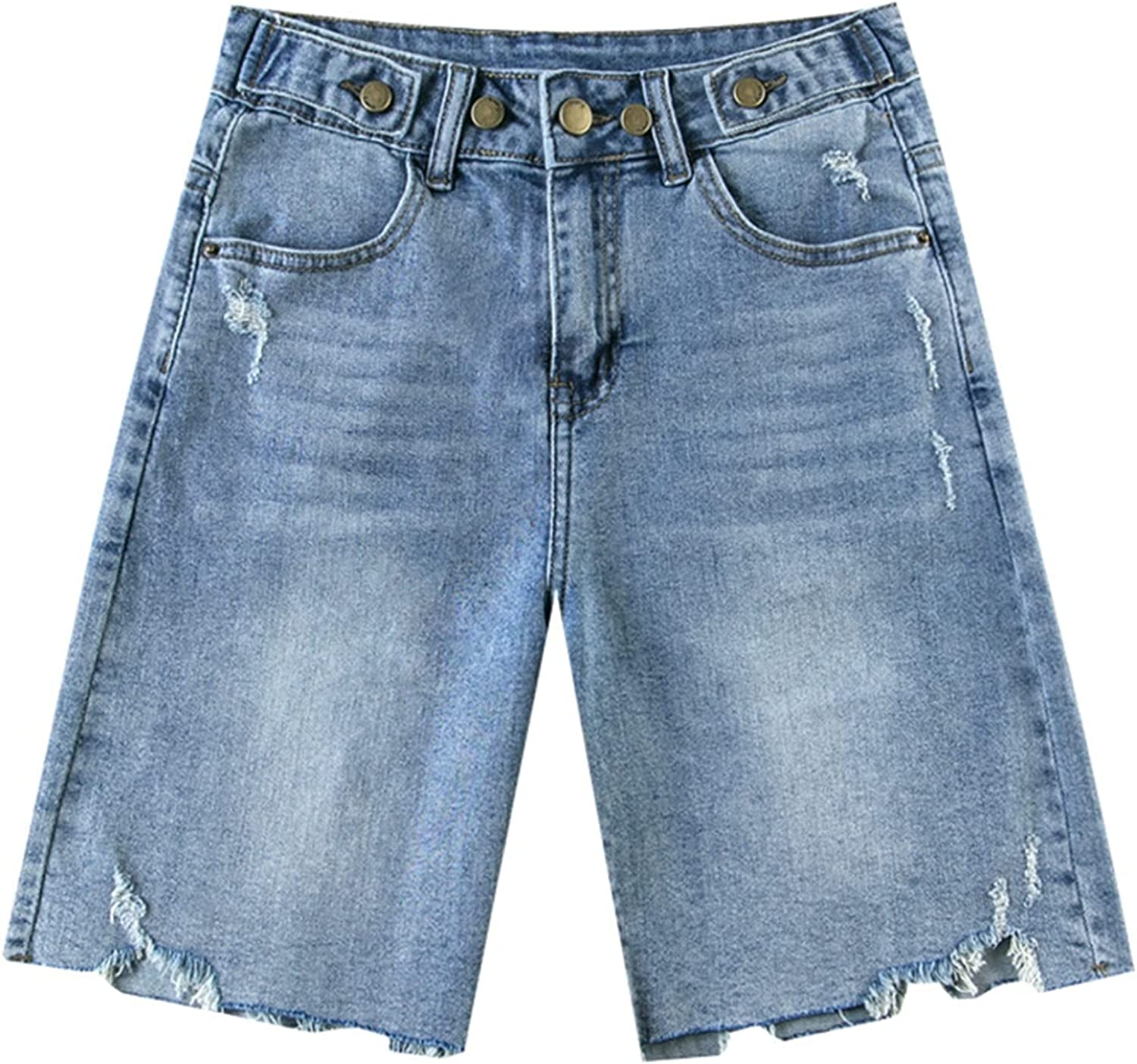 Denim Trousers for Womens Straight Skin-Friendly Leg Our shop most popular F Luxury Thin