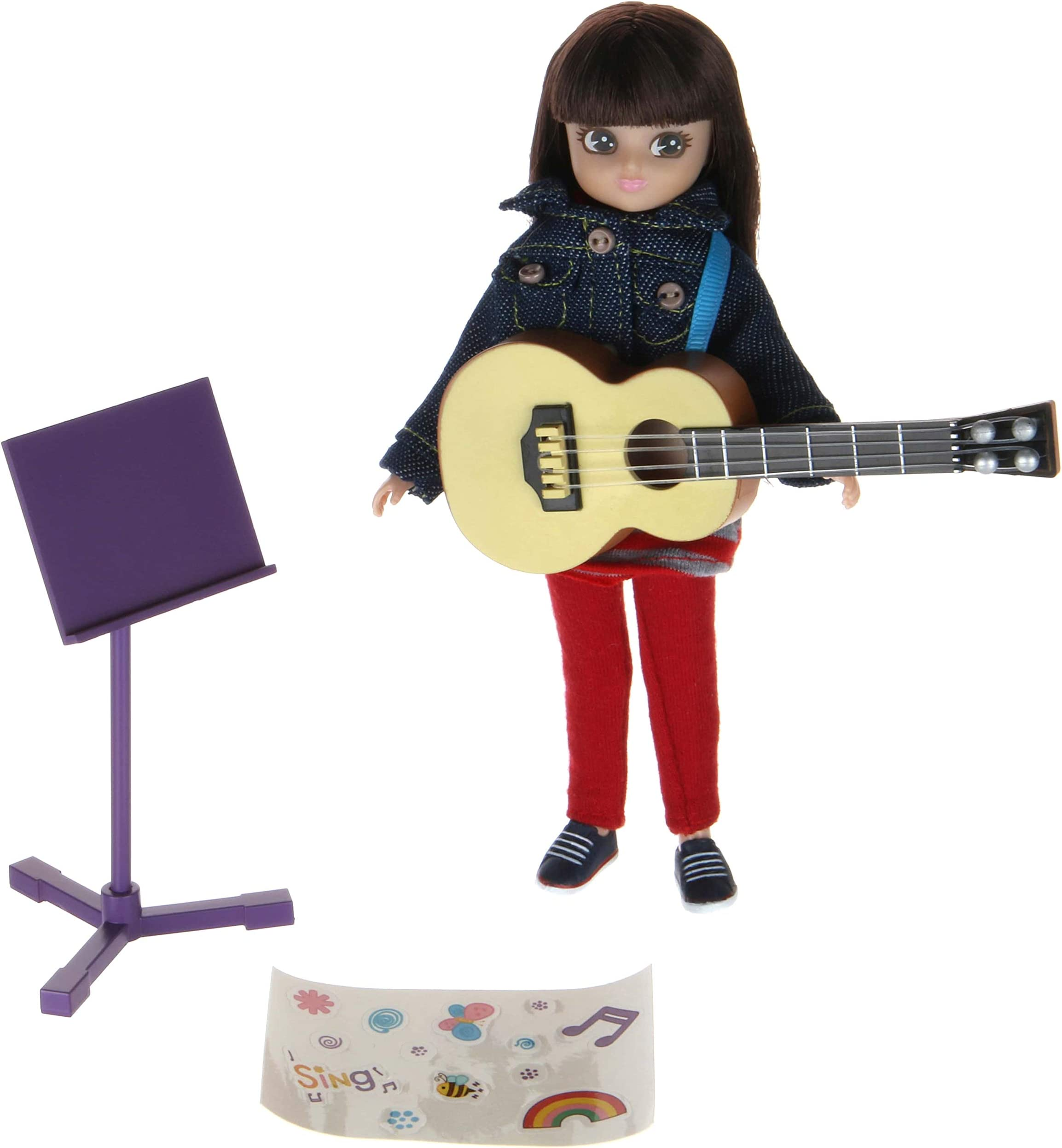 Music Class Lottie Doll | Music Doll with Doll Guitar | Fab Doll Music Set | Musician Doll Playset | Doll Music Activity Playset with Doll Denim Jacket & Doll Guitar | Toys for Girls, Boys, Musicians