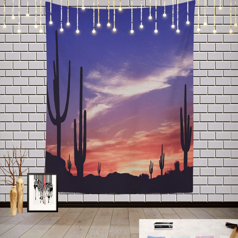 Batmerry Southwest Desert Vintage Cact Max 90% OFF Arizona Saguaro Tapestry Inexpensive