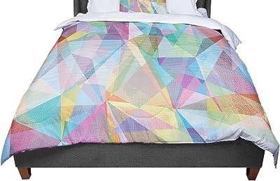 KESS InHouse Heidi Jennings Do Not Block White Red Queen Comforter 88 X 88