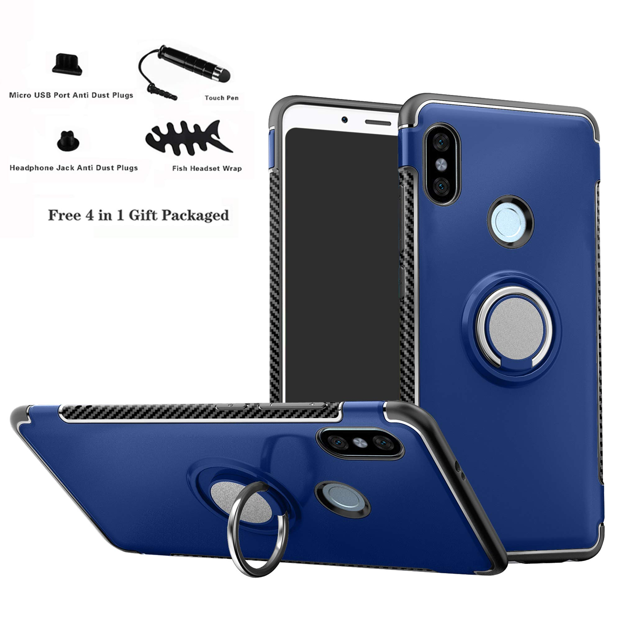Xiaomi Redmi Note 5 Funda,Labanema 360 Rotating Ring Grip Stand Holder Capa TPU + PC Shockproof Anti-rasguños teléfono caso protección Cáscara Cover para Xiaomi Redmi Note 5 / Redmi Note 5 Pro: Amazon.es: Electrónica