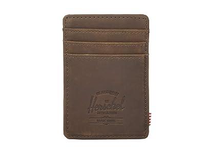 Herschel Supply Co. Raven RFID (Nubuck Brown Leather) Wallet Handbags