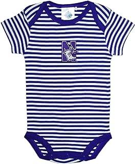 Creative Knitwear Northwestern University Wildcats Striped Baby Bodysuit