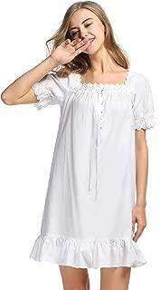 camisón corto blanco