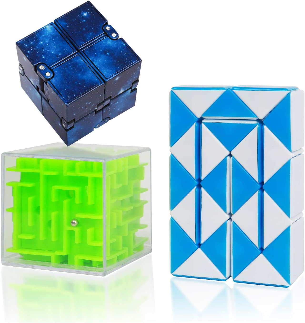 CONQLOAD Fidget Toys Blocks Infinity Cube 24 Blocks Magic Speed Cubes 3D Maze Puzzle Cube Stress Relieving Fidgeting /& IQ Toys Sets for Children Adults