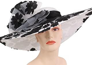 Women's Wide Brim Kentucky Derby Church Dress Hats by Ms Divine #5081