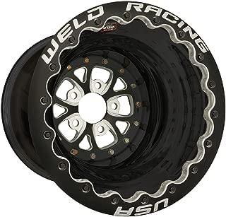 Weld Racing 84B-616B278UB Weld Pro Drag V-Series; Size 16x16 in.; Bolt Pattern 5x4.75 in.; -114.3 Offset; Back Spacing 4 in.; Black Center; Black Shell; Black Ring; Bore Diameter 3.18in./80.772mm.;