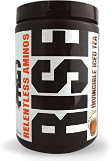 GCode Rise Relentless Aminos (Invincible Iced Tea) Recovery Elixir for Muscle Recovery, Electrolytes and Hydration- 30 Servings