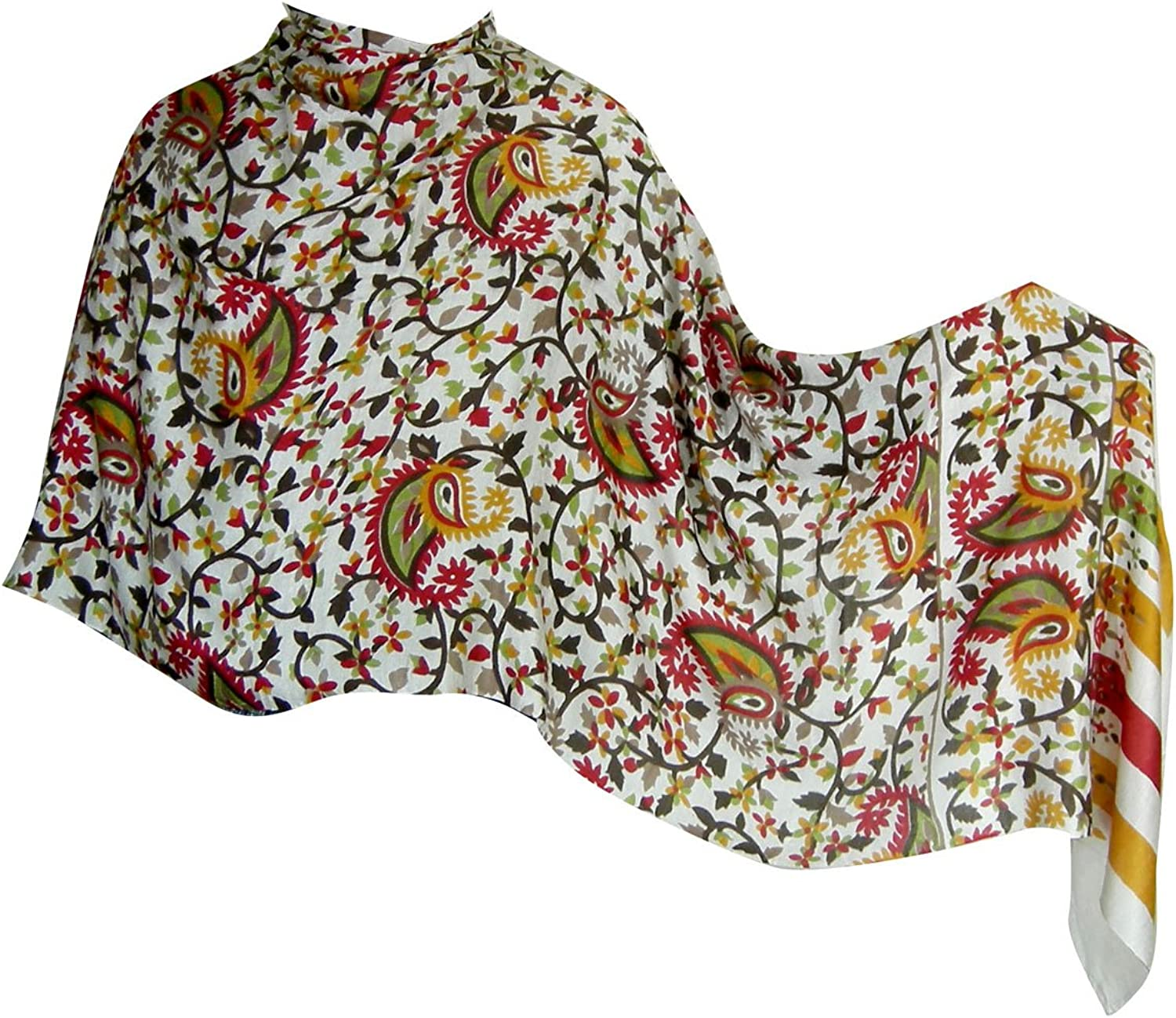 Printed Women Silk Scarves and Wraps Indian Clothing