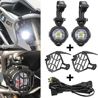 Faros Antiniebla Lámparas Auxiliares del LED 40 W + Protector Guardias + Arnés de Cableado con Interruptor para BMW R1200GS ADV F800GS F650 LC ADV KTM 1190 1190R 1290 Motocicletas Universales