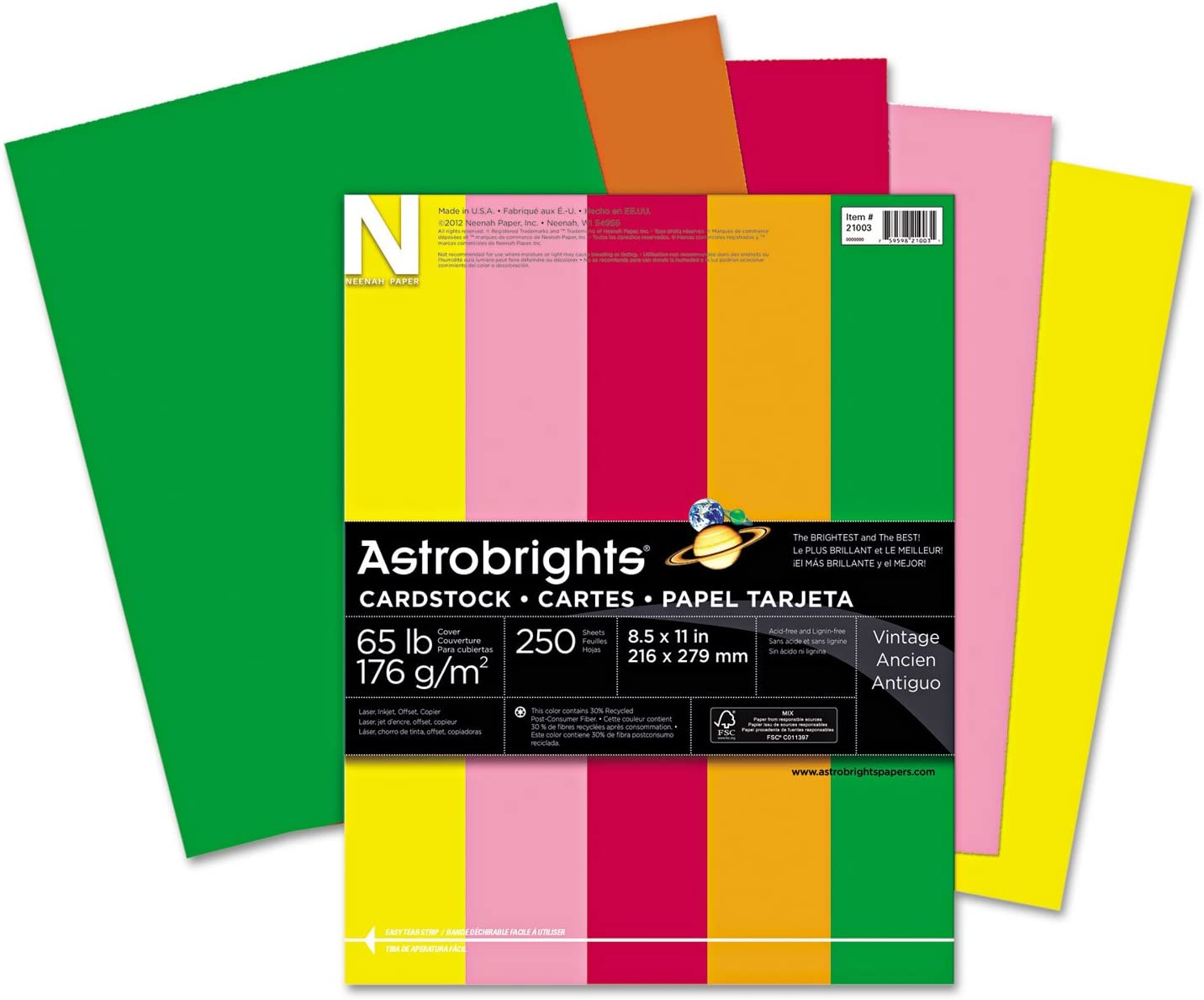 Neenah Paper 21003 Color Cardstock 65lb Soldering 11 x 1 2 8 A surprise price is realized Assorted