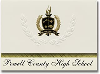 Signature Announcements Powell County High School (Deer Lodge, MT) Graduation Announcements, Presidential style, Basic pac...