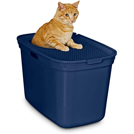 Petco Brand - So Phresh Navy Top-Entry Litter Box