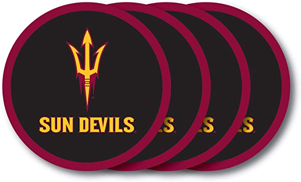 NCAA Arizona State Sun Devils Vinyl Coaster Set Pack Of 4