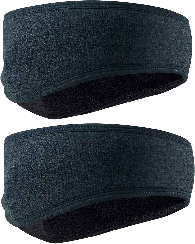 Ear Warmer 2 Pack Thicken Winter Super Warm Headband Full Cover Muffs
