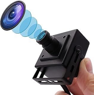 ELP 4K Usbカメラ 超小型 ウェブカメラ 3.6mmレンズ カメラ フルHD 2160P 30FPSカメラ 高解像度 広角 90度 カメラ 固定レンズ Webカメラ Sony IMX317 イメージセンサー/サポートUVC/プラグ&プレ...
