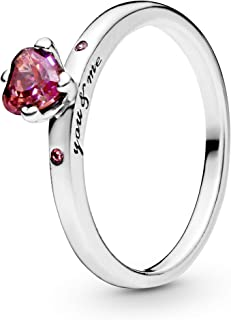 Pandora Women's Sterling Silver Cubic Zirconia 925 Silver Ring, 7 US - 196574CZRMX-54