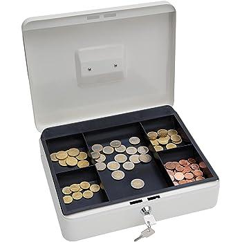 Wedo 145400X - Caja metálica para dinero (2 llaves, soporte para ...