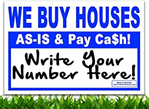 Bundle 100qty - WE BUY HOUSES - AS-IS & Pay Cash - Write Your # - Wholesale 18