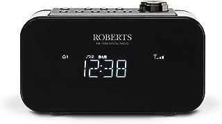 Roberts Radio ORTUS2BK DAB+/DAB/FM Alarm Clock Radio with USB Smartphone Charging - Black