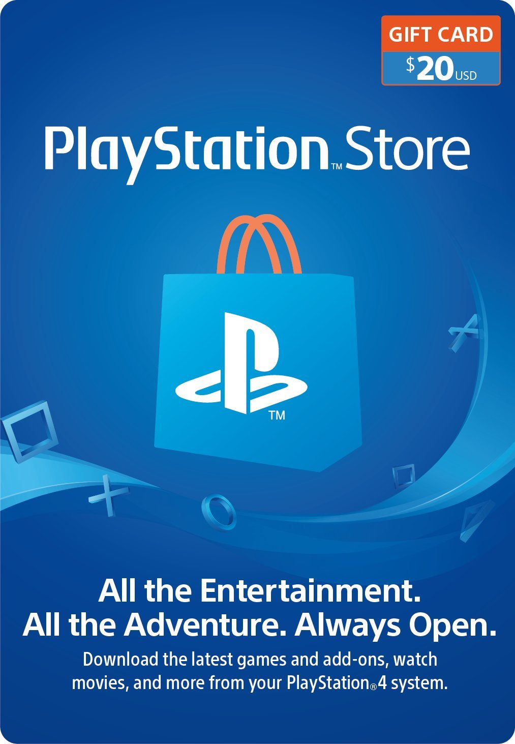 Amazon.com: $20 PlayStation Store Gift Card [Digital Code]: Video Games